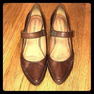 CORSO Como Hamdmade leather maryjane heels